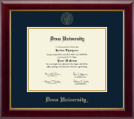 Drew University Diploma Frame - Gold Embossed Diploma Frame in Gallery