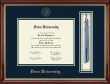 Drew University Diploma Frame - Tassel Edition Diploma Frame in Southport Gold