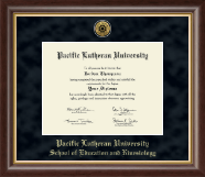 Pacific Lutheran University Diploma Frame - Gold Engraved Medallion Diploma Frame in Hampshire