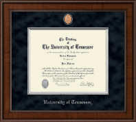 The University of Tennessee Knoxville Diploma Frame - Presidential Pewter Masterpiece Diploma Frame in Madison