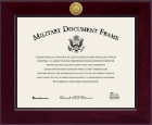 United States Navy Diploma Frame - Century Gold Engraved Certificate Frame in Cordova