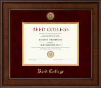 Reed College Diploma Frame - Presidential Gold Engraved Diploma Frame in Madison