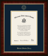 United States Navy Diploma Frame - Gold Embossed Certificate Frame in Murano