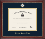 United States Navy Certificate Frame - Masterpiece Medallion Certificate Frame in Kensington Gold