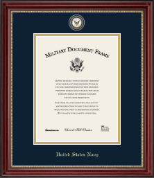 United States Navy Diploma Frame - Masterpiece Medallion Diploma Frame in Kensington Gold