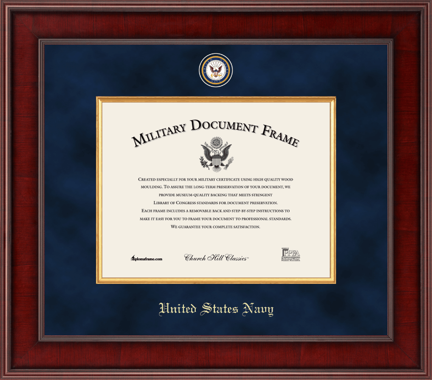 United States Navy Presidential Masterpiece Certificate