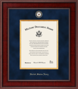 United States Navy Certificate Frame - Presidential Masterpiece Certificate Frame in Jefferson