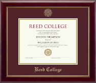 Reed College Diploma Frame - Gold Embossed Diploma Frame in Gallery