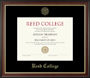 Reed College Diploma Frame - Gold Embossed Diploma Frame in Studio Gold