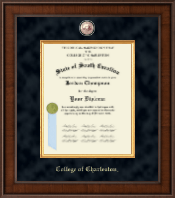College of Charleston Diploma Frame - Presidential Masterpiece Diploma Frame in Madison