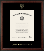 United States Coast Guard Certificate Frame - Gold Embossed Certificate Frame in Studio