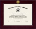 United States Coast Guard Certificate Frame - Century Gold Engraved Certificate Frame in Cordova