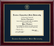 Eastern Connecticut State University Diploma Frame - Gold Embossed Diploma Frame in Gallery