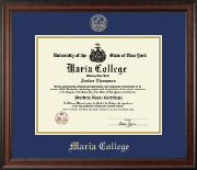 Maria College Diploma Frame - Gold Embossed Diploma Frame in Studio