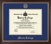 Maria College Diploma Frame - Gold Embossed Diploma Frame in Studio Gold