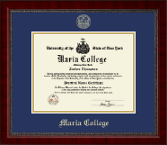 Maria College Diploma Frame - Gold Embossed Diploma Frame in Sutton
