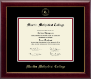 Martin Methodist College Diploma Frame - Gold Embossed Diploma Frame in Gallery