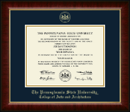 Pennsylvania State University Diploma Frame - Gold Embossed Diploma Frame in Murano