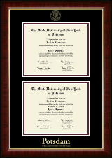 State University of New York at Potsdam Diploma Frame - Double Diploma Frame in Murano