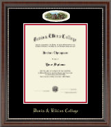 Davis & Elkins College Diploma Frame - Campus Cameo Diploma Frame in Chateau