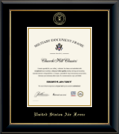 """8""""x10"""" Vertical - Gold Embossed Certificate Frame"""