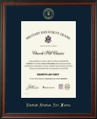 """10""""x14"""" Vertical - Gold Embossed Certificate Frame"""