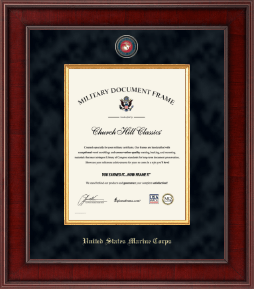 United States Marine Corps Diploma Frame - Presidential Masterpiece Certificate Frame in Jefferson