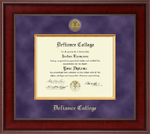 Defiance College Diploma Frame - Presidential Gold Engraved Diploma Frame in Jefferson