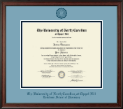 University of North Carolina Eshelman School of Pharmacy Diploma Frame - Navy Embossed Diploma Frame in Studio