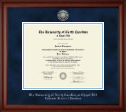 University of North Carolina Eshelman School of Pharmacy Diploma Frame - Silver Engraved Medallion Diploma Frame in Cambridge