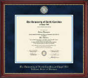 University of North Carolina Eshelman School of Pharmacy Diploma Frame - Masterpiece Medallion Diploma Frame in Kensington Gold