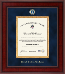 United States Air Force Certificate Frame - Presidential Masterpiece Certificate Frame in Jefferson