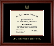 St. Bonaventure University Diploma Frame - Gold Embossed Diploma Frame in Cambridge