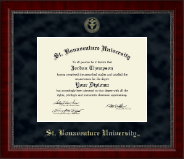 St. Bonaventure University Diploma Frame - Gold Embossed Diploma Frame in Sutton