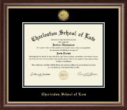 Charleston School of Law Diploma Frame - Gold Engraved Medallion Diploma Frame in Hampshire