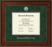 Roosevelt University Diploma Frame - Presidential Silver Engraved Diploma Frame in Madison