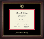 Howard College - San Angelo Diploma Frame - Gold Embossed Diploma Frame in Regency Gold