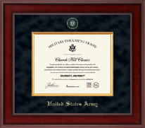 United States Army Certificate Frame - Presidential Masterpiece Certificate Frame in Jefferson