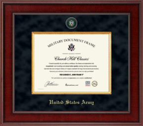 united states army certificate frame masterpiece certificate frame in jefferson