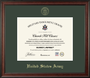 United States Army Certificate Frame - Gold Embossed Certificate Frame in Studio
