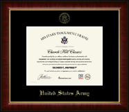 United States Army Certificate Frame - Gold Embossed Certificate Frame in Murano