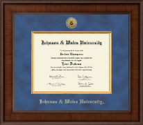 Johnson & Wales University in Rhode Island Diploma Frame - Presidential Gold Engraved Diploma Frame in Madison