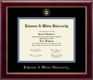 Johnson & Wales University in Rhode Island Diploma Frame - Gold Embossed Diploma Frame in Gallery