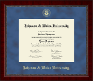 Johnson & Wales University in Rhode Island Diploma Frame - Gold Embossed Diploma Frame in Sutton
