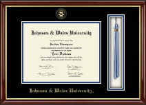 Johnson & Wales University in Rhode Island Diploma Frame - Tassel Edition Diploma Frame in Southport Gold