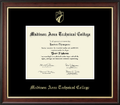 Madison Area Technical College Diploma Frame - Gold Embossed Diploma Frame in Studio Gold