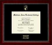 Madison Area Technical College Diploma Frame - Gold Embossed Diploma Frame in Sutton