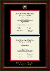 State University of New York Cortland Diploma Frame - Double Diploma Frame in Murano