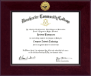 Manchester Community College Diploma Frame - Century Gold Engraved Diploma Frame in Cordova