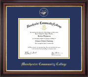 Manchester Community College Diploma Frame - Gold Embossed Diploma Frame in Regency Gold